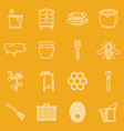 honey apiary outline object collection vector image
