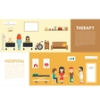 Hospital Therapy flat medical hospital interior vector image vector image