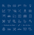 icons repair building construction symbols home vector image vector image