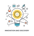 innovation and discovery vector image vector image