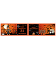 invitation tickets for the halloween night party vector image vector image