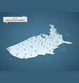 isometric 3d united states america map concept vector image