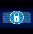 keyboard padlock protection hologram vector image vector image