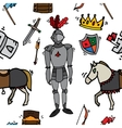 Knight icons pattern vector image vector image