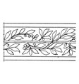 laurel border undulate band is a wavelike design vector image vector image
