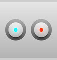led light buttons on gray background vector image vector image