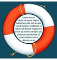 Lifebuoy on dark background with space for a text vector image vector image