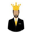 like a king man businessman in crown isolated on vector image