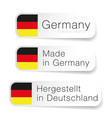 made in germany label with german translation vector image vector image