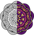 mandala is painted in half vector image vector image