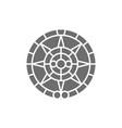 mayan calendar mexican ethnic ornament grey icon vector image
