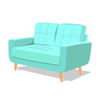 modern turquoise soft armchair with upholstery vector image vector image