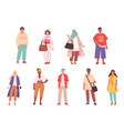 multiracial characters fashioned outfit person vector image vector image