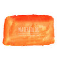 orange watercolor stain background vector image vector image