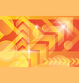 orange yellow bright technology background vector image vector image