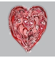 Original drawing doddle heart vector image