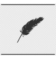 plumage icon black color on transparent vector image vector image