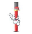 santa lip gloss above cartoon makeup table vector image vector image