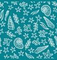 seamless underwater sea pattern vector image
