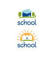 set abstract template logo design for school vector image
