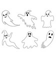 set of different ghosts vector image vector image