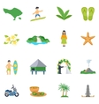 set of flat icons about bali
