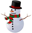 snowman isolate vector image vector image
