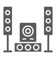 sound system glyph icon audio and stereo music vector image