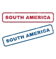 South America Rubber Stamps vector image vector image