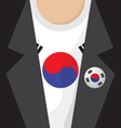 T-Shirt With South Korea Flag vector image vector image