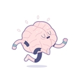 Train your brain running vector image vector image