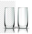 transparent glass nightclub degustation vector image vector image