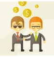 two man talking about business business vector image