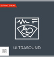 ultrasound icon vector image vector image