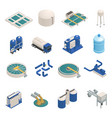 wastewater purification isometric icons set vector image vector image