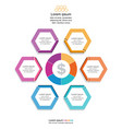 abstract circle arrows for infographic vector image