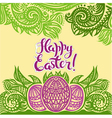 Letters Happy Easter vector image