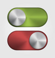 3d metal switch for applications and site red and vector image