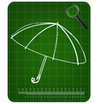 3d model of an umbrella on a green vector image