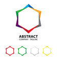 abstract colorful logo design on white background vector image vector image