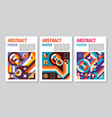 abstract poster geometric background concept vector image vector image