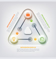 abstract web infographic concept vector image