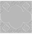 background with traditional patterned frame vector image vector image