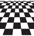 black and white checker vector image