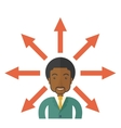 Black guy with too many arrows vector image vector image
