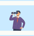 businessman with binoculars search conceptflat vector image vector image