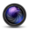 camera shutter photo focus isolated design lens vector image vector image