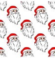 Cartoon Santa seamless pattern vector image vector image