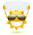 cartoon sun character vector image