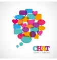 Chat speech bubbles vector image vector image